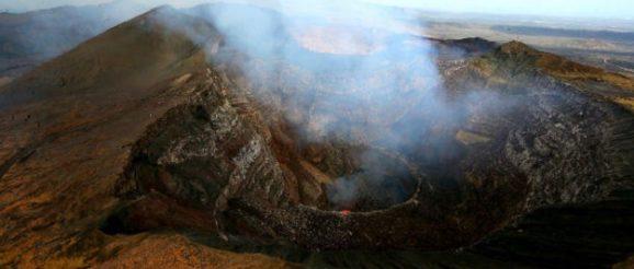 Вулкан Масая, расположенный в Никарагуа