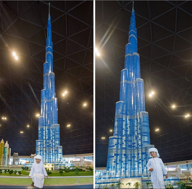 Лего-копия небоскреба Бурдж-Халифа