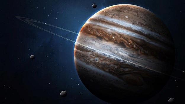 Кольца и спутники Юпитера