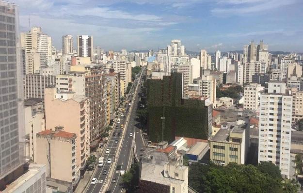 Вертикальные сады на зданиях в Сан-Паулу