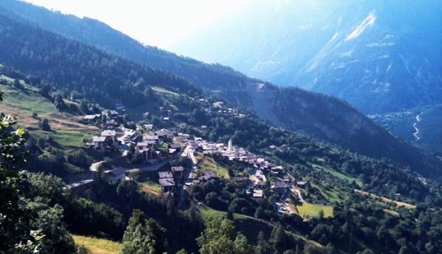 Живописная швейцарская деревушка Альбинен