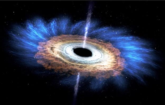 Черная дыра и аккреционный диск созданный мощной гравитацией