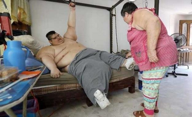Мексиканец Хуан Педро Франко самый толстый человек в мире
